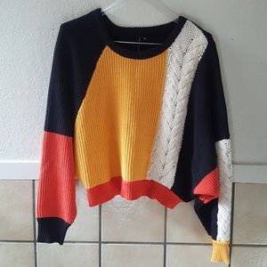 Moon and Madison chunky knit cropped sweater EUC